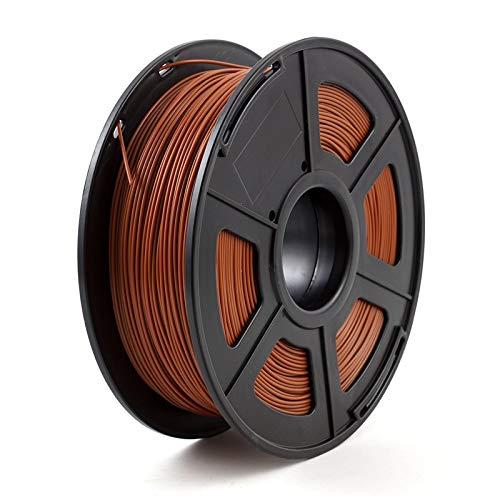 Auartmetion 1pc 3D-Drucker Filament PLA 1,75 mm 1 kg / 2,2 lbs 3D Plastikartikel-Material 3D-Filament USA Natureworks PLA (Farbe : Brown)