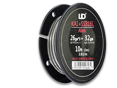 Preisvergleich Produktbild Youde UD Kanthal A1 + 316L Stainless Steel Alien Heating Wire 10ft 3m