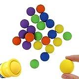 Eeauytr 100 bolas de espuma suave, bola de esponja de espuma perfecta, bola de espuma EVA, recarga de pelota de deportes al aire libre juegos para niños