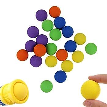 100 Pcs EVA Foam Balls for Popper Air Blaster Toy Guns - Game Refill Balls Soft Foam Balls Replacement Bullet Balls for Shooting Game Toy Guns