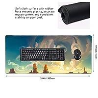 油絵 夕暮れ 日没 マウスパッド ゲーミングマウスパット デスクマット キーボードパッド 滑り止め 高級感 耐久性が良い デスクマットメ キーボード パッド おしゃれ ゲーム用(90cm*40cm)