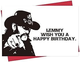 Birthday Card For Dad Mom, Lemmy Birthday Card From Daughter Son, Lemmy Wish You A Happy Birthday