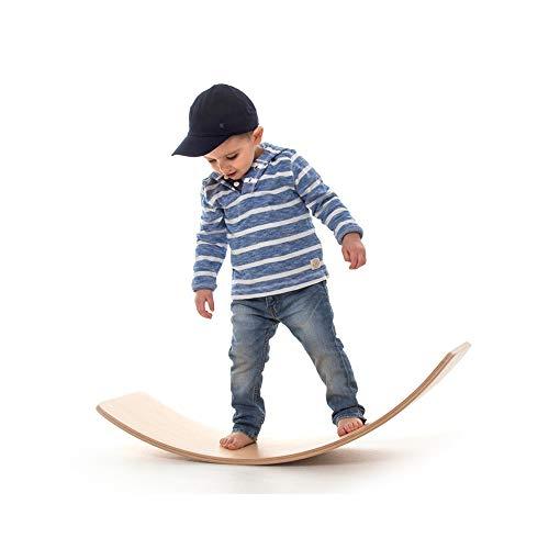 Yihome Wooden Balance Board for Kids Wobble Toys Yoga Curvy Board - Montessori Seesaw Rocker Swing Board Toddlers (Natural)