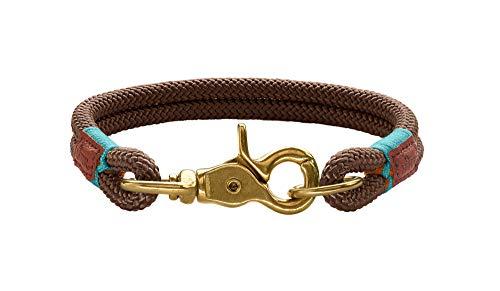 HUNTER Oss Halsung für Hunde, Tau, fellschonend, maritim, nautisch, 45 (M), braun
