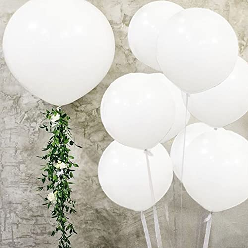 5pcs Large White Balloons Latex 36 Inch Big White Balloons Giant Helium Balloons Jumbo White Balloon for Wedding Birthday Party Festivals and Event Decorations