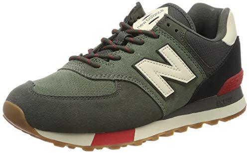 New Balance 574v2, Zapatilla Baja de Deporte Hombre, Verde Rojo, 36 EU