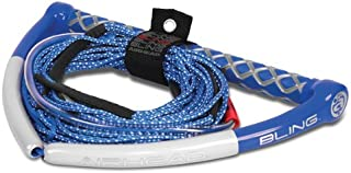 AIRHEAD BLING Spectra Wakeboard Rope, 75', 5 Section, Blue