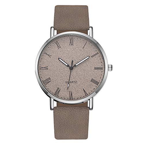 Ronamick Montre bracelet analogique /à quartz pour femme bracelet en cuir A