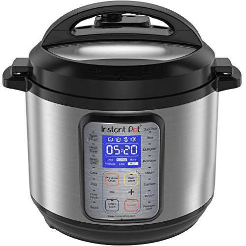 Instant Pot DUO Plus 60, 6 Qt 9-in-1 Multi- Use Programmable Pressure Cooker, Slow Cooker, Rice Cooker, Yogurt Maker, Egg Cooker, Saut, Steamer, Warmer, and Sterilizer (Renewed)