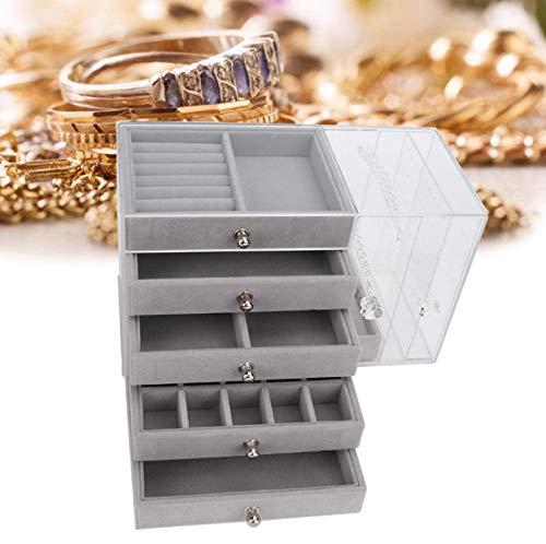 HJQL Jewelry Display Stand, Acrylic Hanging Jewelry Organizer Drawer Organizer, Jewelry Display Stand Bracelet Earring Storage Box