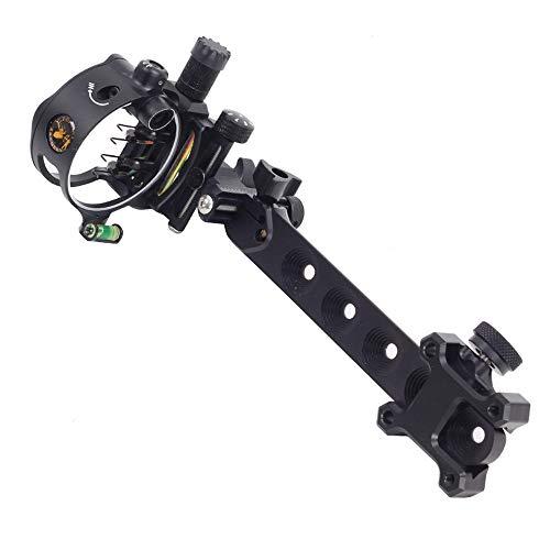 "SHARROW Compound Bow Sight Archery Essential Archer Sight 5-pin .019"" Fiber..."