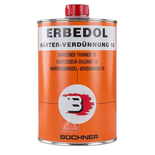 ERBEDOL | Härter-Verdünnung 18 | 1 Liter | Lack | Durchhärtung | Kunstharzlack | PA 990 | 18 3,0 | Trocknungsbeschleuniger | Lackverdünnung | Verdünnung