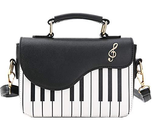 Rullar Damen Mädchen Mode Kleine PU Leder Henkeltaschen Handtasche Umhängetasche Schultertasche Shopper Piano Key Handtasche Shoulder Handbag