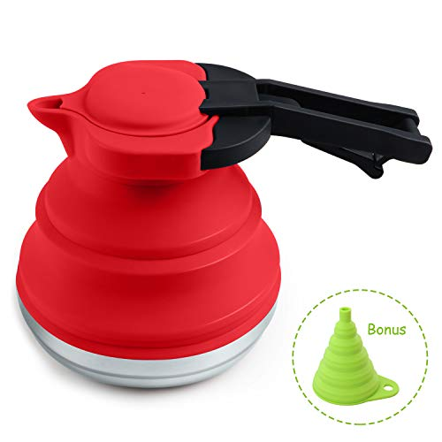 HULISEN Portable Silicone Collapsible Tea Kettle