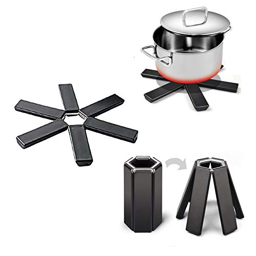 3 alfombrillas plegables, aislamiento térmico y antiquemaduras, fácil de limpiar y ahorrar espacio después de plegar.