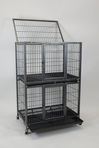 New 31' Homey Pet Pet Crate and Durable Plastic Black Tray (Cage)