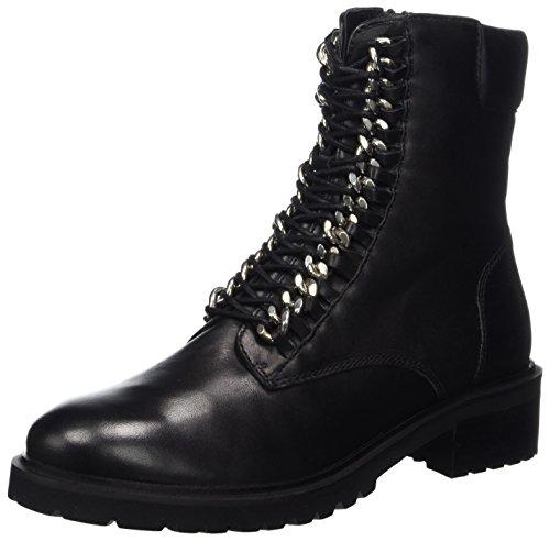 SPM Damen Loes Ankle Combat Boots, Schwarz (Black), 42 EU