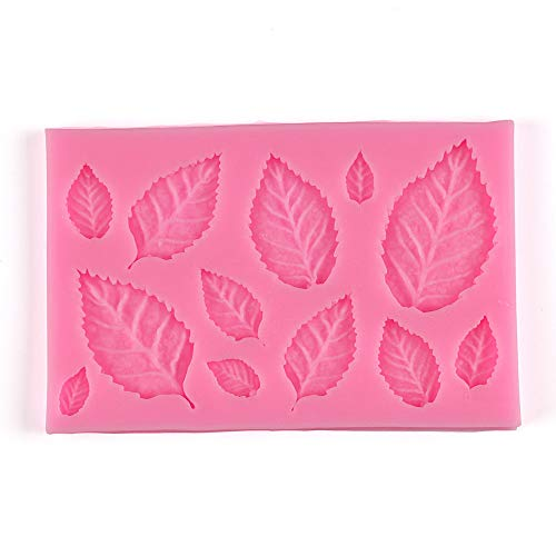 Moent - Molde de silicona para fondant, diseño de rosa