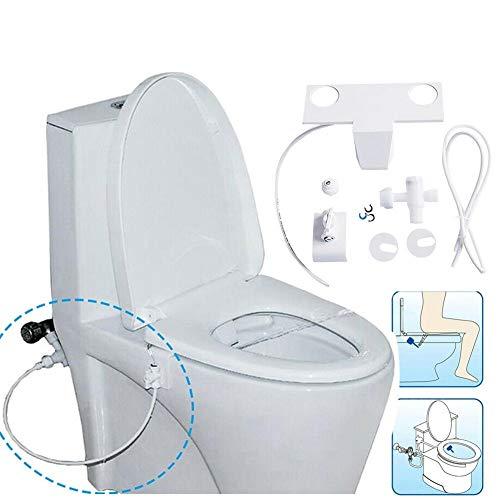 WBFN 1 PC de asiento de inodoro adaptador de inodoro de limpieza pulverizador autopropulsado Boquilla bidé de agua disperso No-electricidad lavado mecánico Culo G 1/2 7/8 (Color : White)