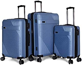 Giordano Luggage Trolley Bags For Unisex 3 Pcs, Blue, 5154