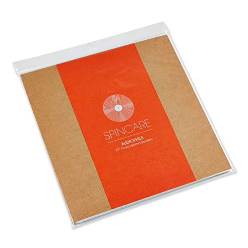 50x 12 Inch Anti Static Inner Vinyl Record Sleeves | AUDIOPHILE Poly Lined...