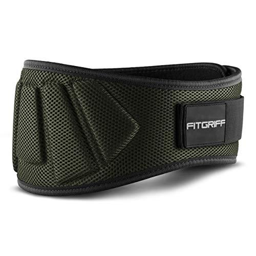 Fitgriff® Cinturón Gym V1 - Cinturon Gimnasio, Musculación, Halterofilia, Crossfit, Levantamiento Pesas,...