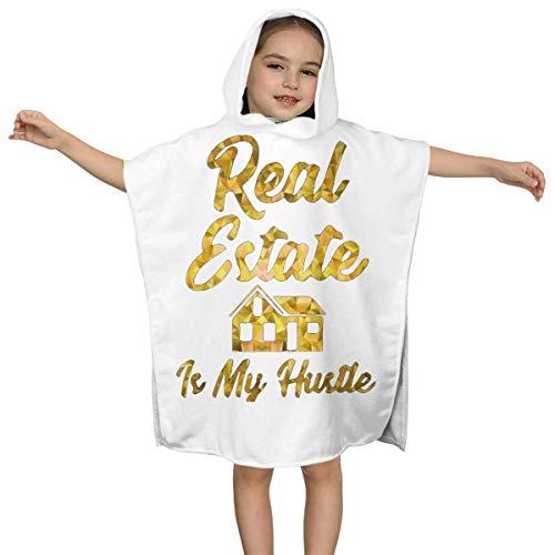 XCNGG Real Estate is My Hustle Kids Toalla de baño con Capucha para niños Niños