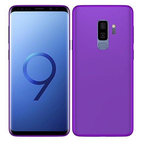 TBOC® Funda de Gel TPU Morada para Samsung Galaxy S9 Plus - S9+ (6.2 Pulgadas) de Silicona Ultrafina y Flexible