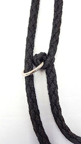 Hundeleine Doppelleine 2,80m 4fach verstellbar schwarz - 3