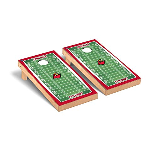 Louisville Cardinals Regulation Cornhole Game Set Football Field Version