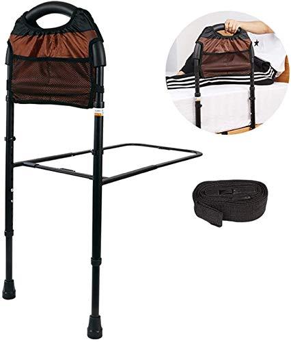 DSGYZQ Bett-Rail Übertragungshilfe, Höhe verstellbare Bett-Stick mit nützlichem Staufach, Get Up Booste Hilfe Bracket Zaun Hilfe für ältere Schwangere Frauen