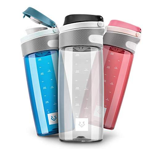 Alphatrail Tritan Trinkflasche Jay 550ml Schwarz I 100% Auslaufsicher I BPA-Frei & Ökologisch I Spülmaschinengeeignet I Mit Einhand-Fliptop-Verschluss für optimale Hydrierung im Alltag