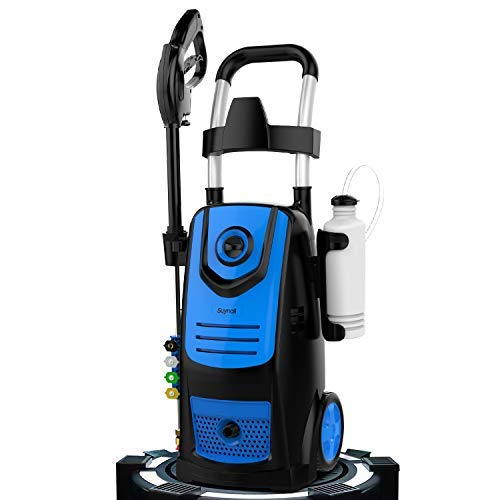 Suyncll 3800 PSI 2.8GPM Electric Pressure Washer, 1800W Electric Power Washer for Home Use with Hose, Gun, and 4 Adjustable Nozzle (Blue)