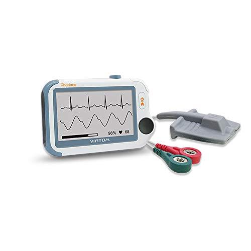 Blutdruckmessgeräte, Tragbarem 24-Stunden EKG Gerät Oximeter über Nacht für Schlafapnoe Professional/Heimgebrauch mit APP und PC Bericht