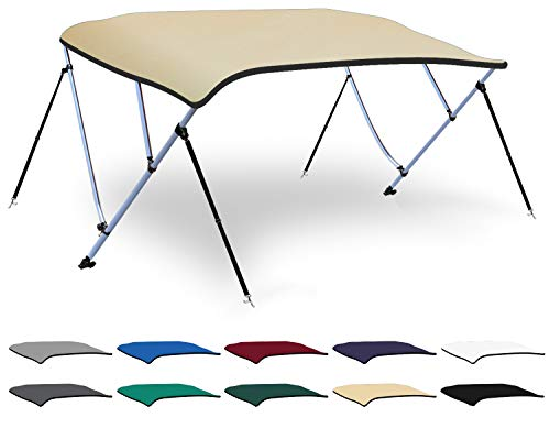 Fantastic Prices! XGEAR 3-4 Bow Bimini Top Boat Cover with 4 Straps, Mounting Hardwares and Storage ...