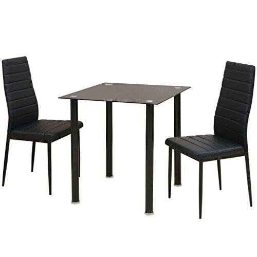 vidaXL Essgruppe 3-TLG. Sitzgruppe Tischset Esszimmertisch Esstisch Stühle