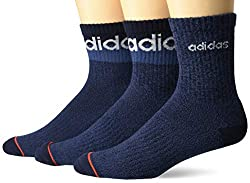 professional Adidas Block Linear High Quarter Men's Socks (3 Pairs), Legend Ink Blue – Tech Ink Gray…