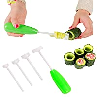 4pcs Replaceable Head Vegetable Spiral Cutter,Veggie Corkscrew Carver,Vege Drill Spiralizer Digging Device