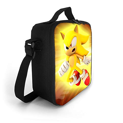 Mr Zhou Super Sonic Lunch Bag for Women Kids Boys Girls Insulated Lunch Box with Adjustable Shoulder Strap Leakproof Cooler Lunch Tote Bag for Work Picnic Travelling