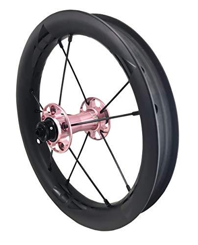 DATI S8C-CSW Push Kids Balance Bike Bicycle Super Light Wheels Carbon Rim12 Set (Pink/Black Logo, KOKUA: 84 * 9MM)