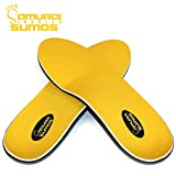 Samurai Insoles Sumos- Super-Padded Orthotics for Flat Feet- Perfect for Work Boots, Roomy Sneakers or Shoes (Mens 11-11 1/2 | Womens 13-13 1/2)