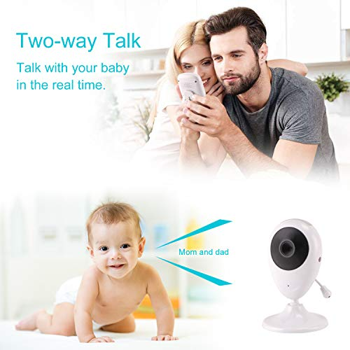 Dekugaa Baby Monitor 2.4GHz Wireless Video Digital Baby Camera with 1000ft Range Transmission Night Vision 2-Way Talk VOX Temperature Sensor and Lullabies