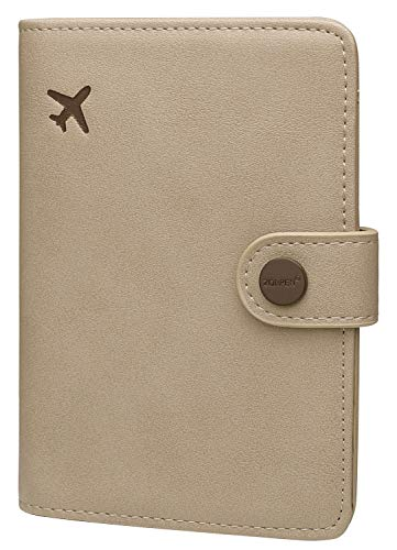 Zoppen Passport Cover for Women Travel Wallet Passport Holder Cover Slim Id Card Case