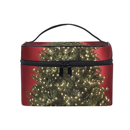Beau Sac cosmétique d'arbre de Noël Grand Sac de Toilette Portable pour Les Femmes/Filles Sac de Maquillage de Voyage