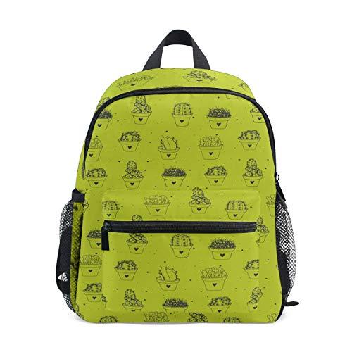 MALPLENA Bolsa de viaje para niños Cute Cactus School Bag