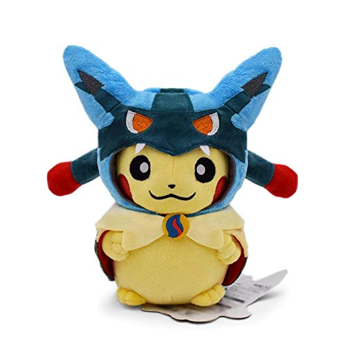 NamekPlanet - Peluche Pikachu Deguise Cosplay Pokemon - 20 à 24cm (Mega Lucario 22cm)