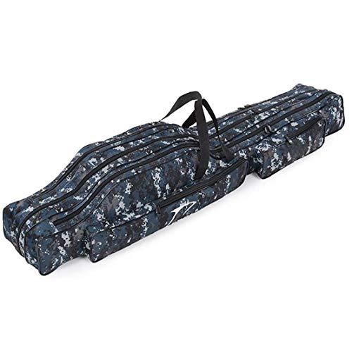 iuNWjvDU Angeltasche Angelrute Träger Reiseetui Pole Werkzeuge Aufbewahrungstasche Double Layer Tragbare Leinwand für Fischereiausrüstung Tarnung Angeln Teile Tackle