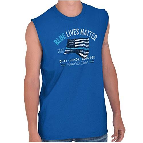 Blue Lives Matter Duty Police Officer Gift Sleeveless T Shirt