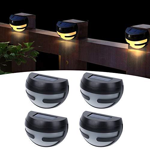 WMKD Aplique de Pared, Lámpara de Pared, Paneles solares de polisilicio, Control de detección de luz, Luces de jardín, para luz Solar Luz Solar de jardín para Exteriores Luz LED para Exteriores
