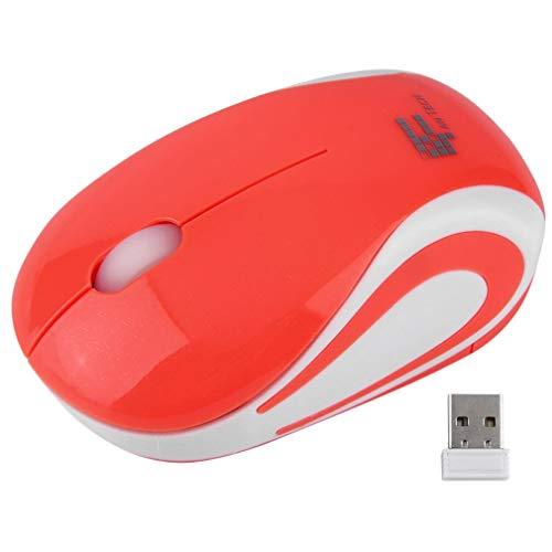 Leuke draadloze optische muis 2,4 GHz kwaliteit muizen USB voor pc-laptop Prachtig ontworpen Duurzaam prachtig oranje